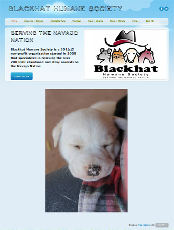 Blackhat Humane Society New Web Site