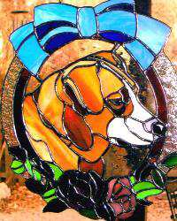 Your pet'sportrait in stained glass!
